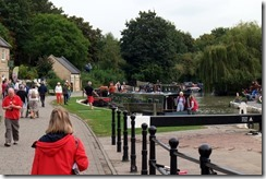 Bradford Wharf and Lock - busy Sunday Afternoon