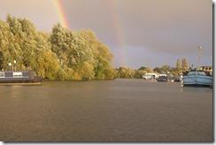 Thames & Kennet Marina. Rain.