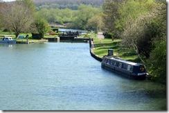 Moored up at Eynsham Lock