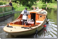 Goldsworth Locks - unusual boat