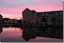 Apsley Marina at dusk