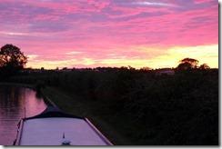 Sunset near Yardley Gobion